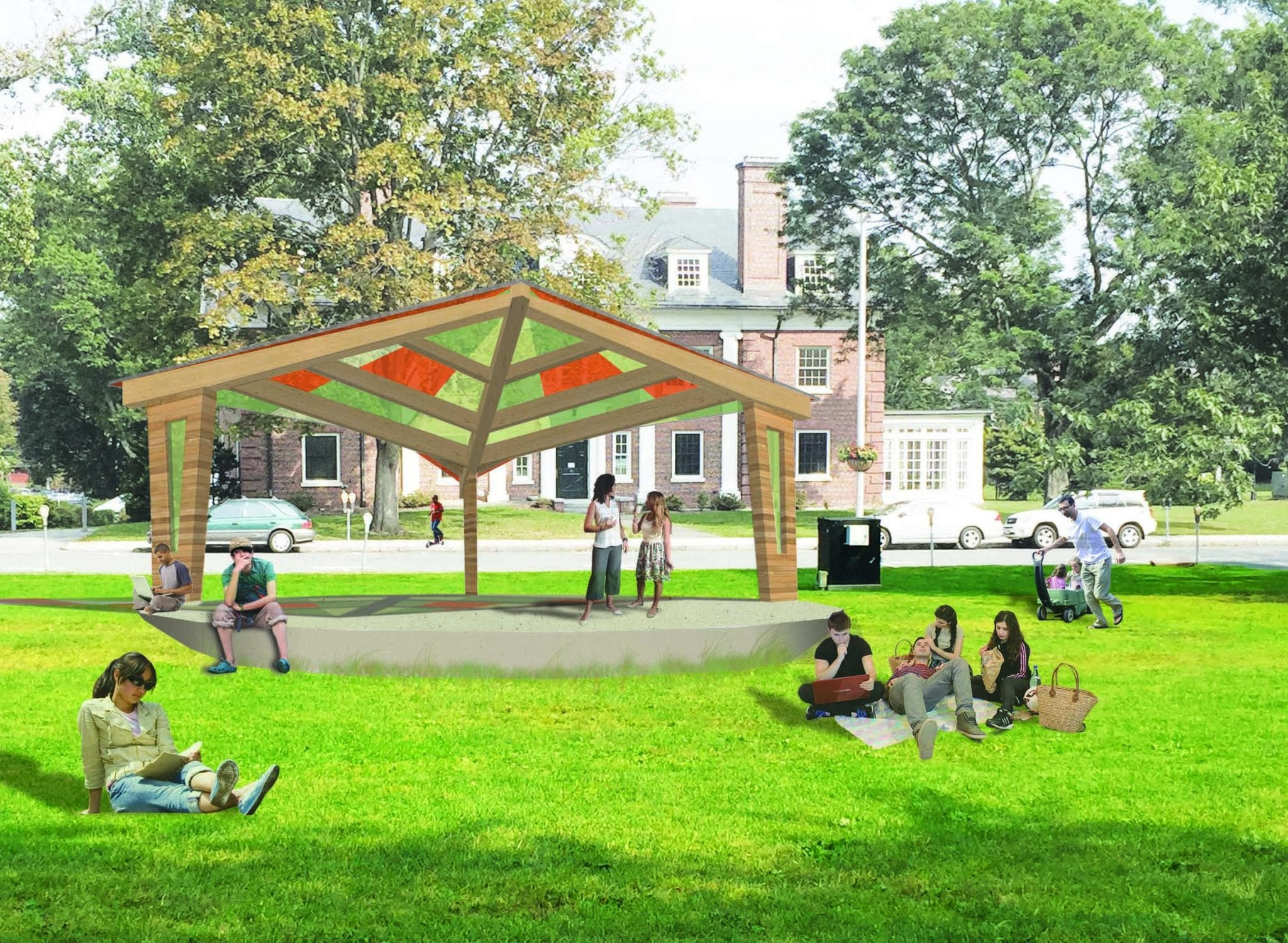 Amherst Bandshell Day Rendering